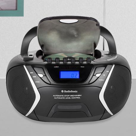 Radio-Cassette CD USB MP3 AudioSonic CD1596 - Imagen 1