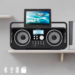 Radio Retro Bluetooth Recargable AudioSonic RD1556 - Imagen 1