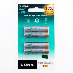 Pilas Recargables Sony Ni-MH AAA 1000 mA 1,2V (pack de 4) - Imagen 1