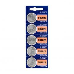 Pilas de Botón de Litio Sony CR2025 3V (pack de 5)