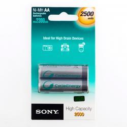 Pilas Recargables Sony Ni-MH AA 2500 mA 1,2V (pack de 2) - Imagen 1
