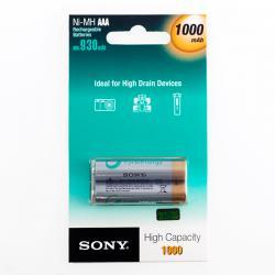 Pilas Recargables Sony Ni-MH AAA 1000 mA 1,2V (pack de 2) - Imagen 1
