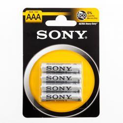 Pilas Salinas Ultra Sony AAA R03 1,5V (pack de 4)