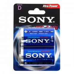 Pilas Alcalinas Plus Sony D LR20 1,5V AM1 (pack de 2)