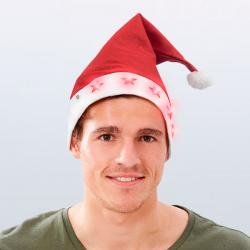Gorro de Papá Noel con Estrellas LED