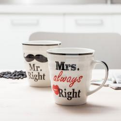 Tazas Mr. Right & Mrs. Always Right - Imagen 1