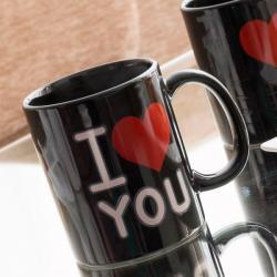 Taza Mágica Negra I Love You - Imagen 1