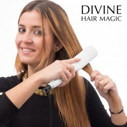 Cepillo Alisador Eléctrico Divine Hair Magic