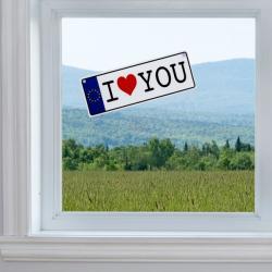 Matrícula I Love You con Ventosa