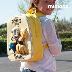 Mochila Escolar 3D Minion Bananas - Imagen 1