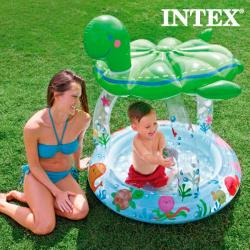 Piscina Hinchable con Sombrilla Tortuga Intex