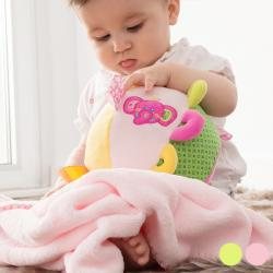 Pelota-Peluche con Manta para Bebé
