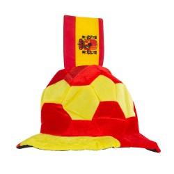 Gorro Balón de Fútbol con Bandera de España en Relieve