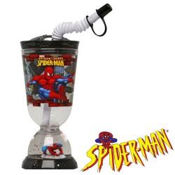 Vaso Base con Pajita Spiderman 275 ml - Imagen 1
