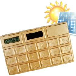 Calculadora Solar  Oro - Imagen 1
