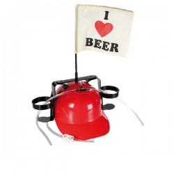 Casco I Love Beer con Soporte Bebida