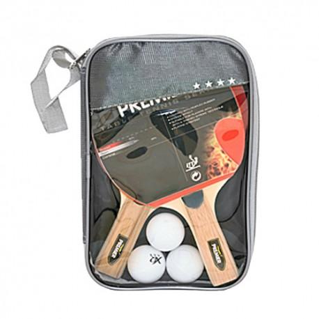 Set de Ping Pong (2 Palas + 3 Pelotas + Estuche) - Imagen 1