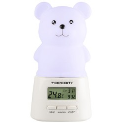 Lámpara LED Quitamiedos con Reloj TopCom KL4330