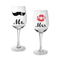 Copas de Vino Mr & Mrs - Imagen 1