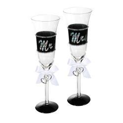 Copas de Champagne Mr & Mrs - Imagen 1